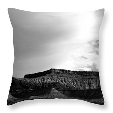 Clouds  Over The Mesa Throw Pillow