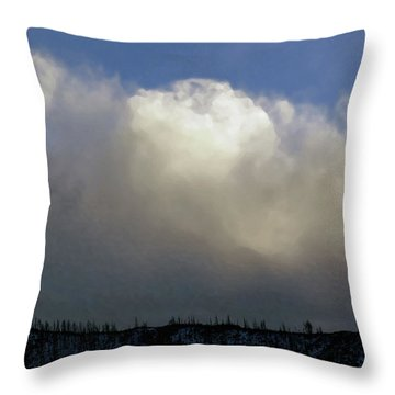 Clouds Over The Ridge Throw Pillow by Agustin Goba