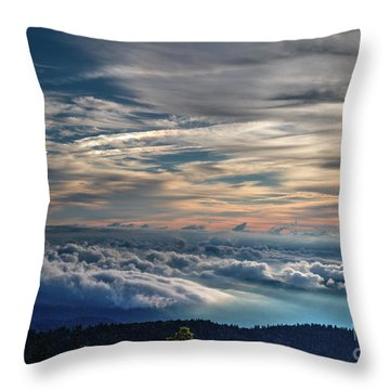 Throw Pillow featuring the photograph Clouds Over The Smoky's by Douglas Stucky