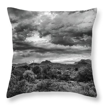 Clouds Over The Superstitions Throw Pillow by Monte Stevens