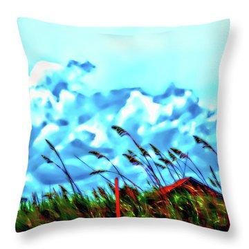 Clouds Over Vilano Beach Throw Pillow