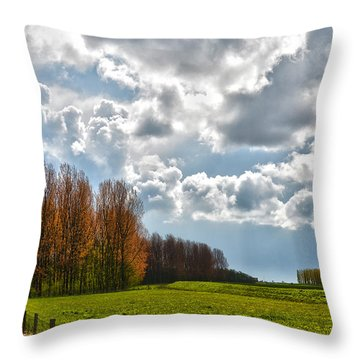 Clouds Over Voorne Throw Pillow