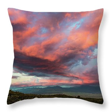 Clouds Over Warner Springs Throw Pillow