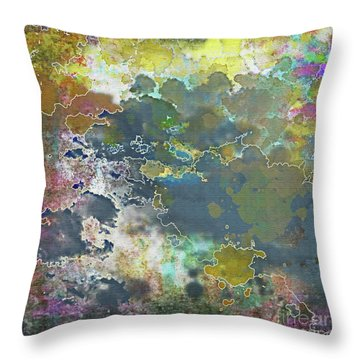 Clouds Over Water Throw Pillow by Deborah Nakano