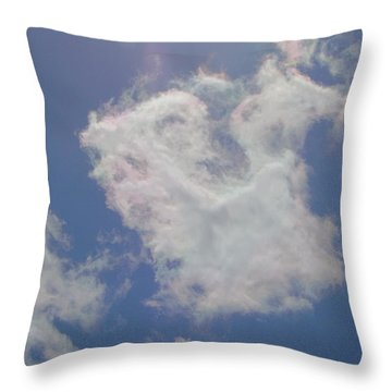 Clouds Rainbow Reflections Throw Pillow by Cindy Croal