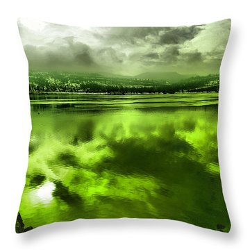 Throw Pillow featuring the photograph Clouds Reflecting Off The Columbia  by Jeff Swan