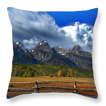 Clouds Rising Throw Pillow by Diane E Berry
