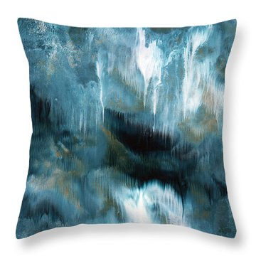 Clouds Rolling In- Abstract Art By Linda Woods Throw Pillow