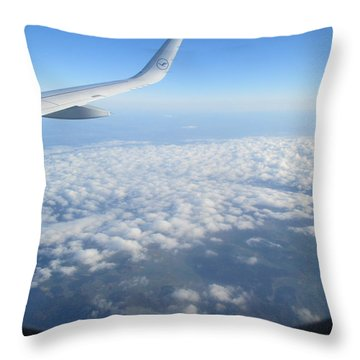 Clouds Seen From The Airplane Throw Pillow