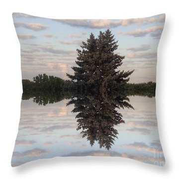 Clouds Up And Down Throw Pillow