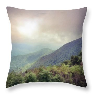 Clouds Upon Graybeard Throw Pillow