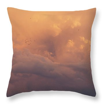 Throw Pillow featuring the photograph Cloudscape by Dustin LeFevre