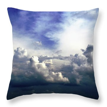 Cloudscape Fourteen Throw Pillow by Tom Druin