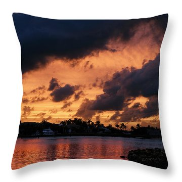 Throw Pillow featuring the photograph Cloudscape by Laura Fasulo