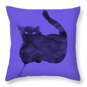 Throw Pillow featuring the painting Cloudy Cat by Marc Philippe Joly