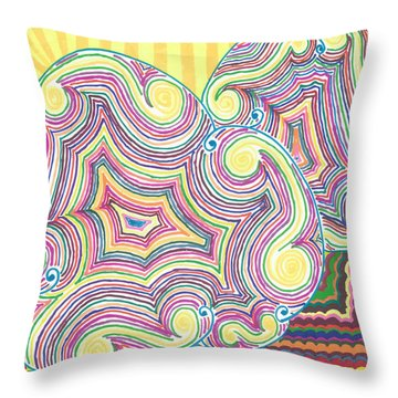 Cloudy Chaos Throw Pillow