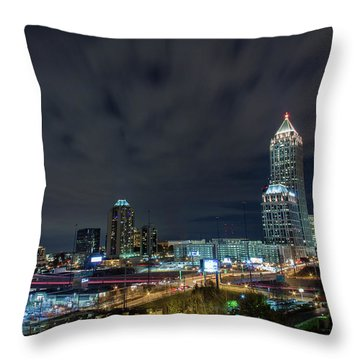 Cloudy City Throw Pillow