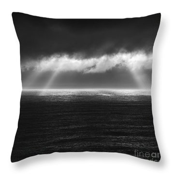 Cloudy Day At The Sae Throw Pillow