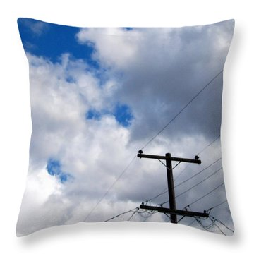 Cloudy Day Throw Pillow by Patricia Strand