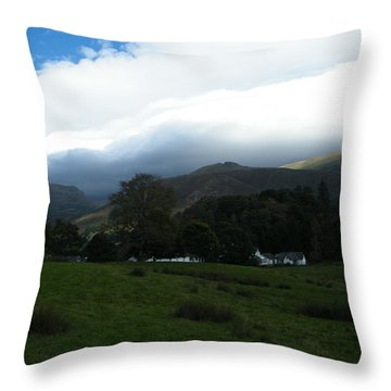 Cloudy Hills Throw Pillow