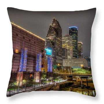Throw Pillow featuring the photograph Cloudy Night In Houston by David Morefield