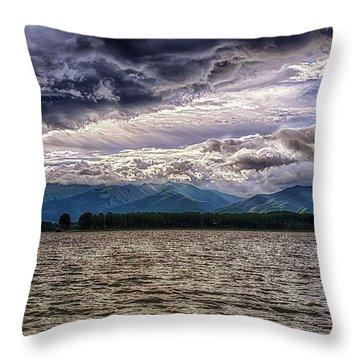 Cloudy Throw Pillow