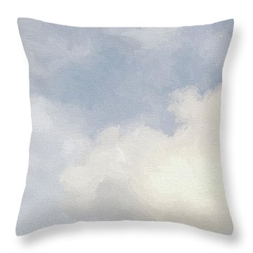 Cloudy Skies Throw Pillow