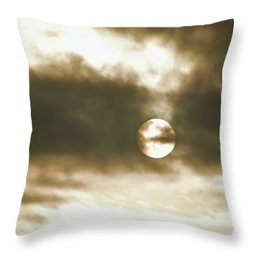 Cloudy Sun Throw Pillow
