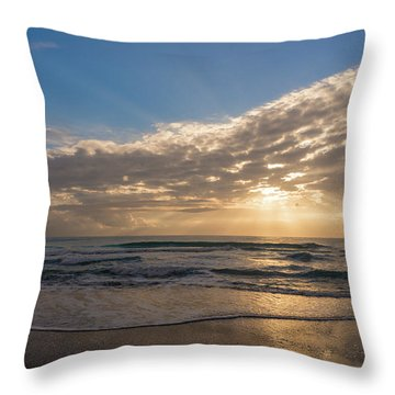 Cloudy Sunrise In The Mediterranean Throw Pillow