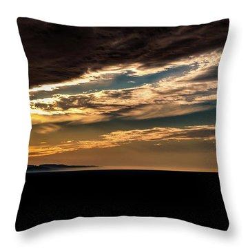 Cloudy Sunset Throw Pillow by Onyonet  Photo Studios