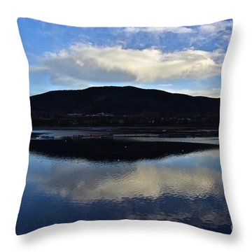 Cloudy Waters Of Colorado Throw Pillow