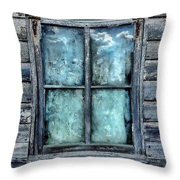 Cloudy Window Throw Pillow