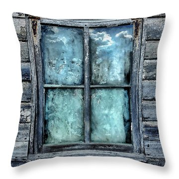Cloudy Window Throw Pillow