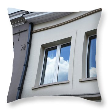Cloudy Windows Throw Pillow