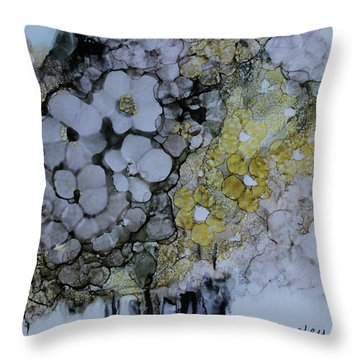 Throw Pillow featuring the painting Cloudy With A Chance Of Sunshine by Joanne Smoley