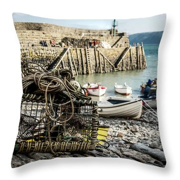 Clovelly Crab Trap Throw Pillow