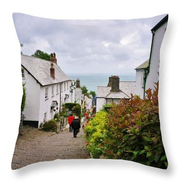 Clovelly High Street Throw Pillow