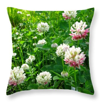Clover Field Throw Pillow by Anna Villarreal Garbis
