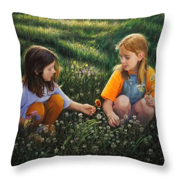 Clover Field Surprise Throw Pillow