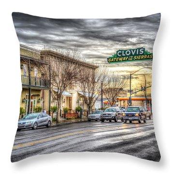 Clovis California Throw Pillow