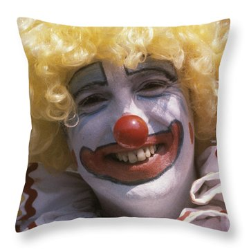Clown-1 Throw Pillow