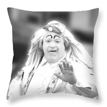 Clown 46 For Coloring Throw Pillow by Ericamaxine Price