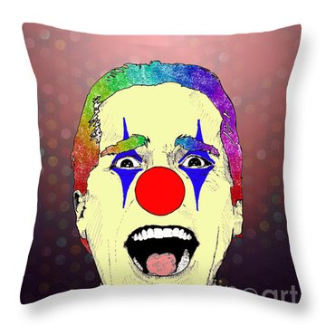 clown Christian Bale Throw Pillow by Jason Tricktop Matthews