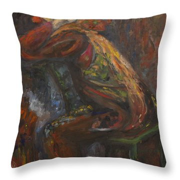 Clown In Meditation Throw Pillow