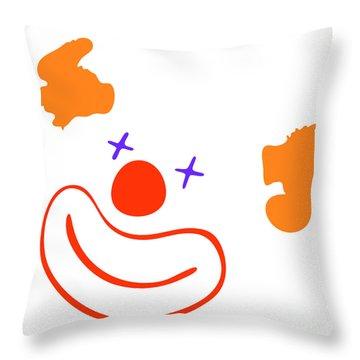 Clown Throw Pillow by Michal Boubin