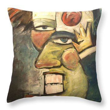 Clown Painting Throw Pillow by Tim Nyberg