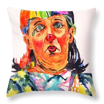 Clown Series Oh No  Throw Pillow