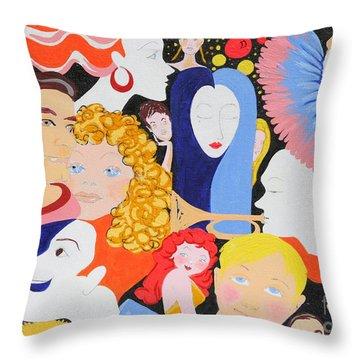 Send In The Clowns Throw Pillow