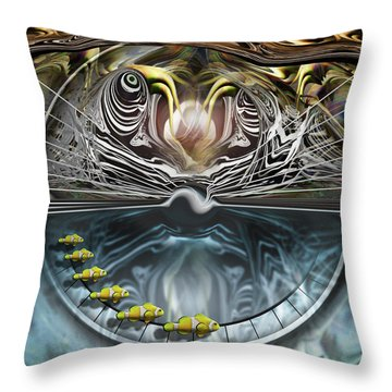 Throw Pillow featuring the photograph Clowns On Parade by Steve Sperry