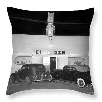 Club 526  Henry Franci, Salinas 1941 Throw Pillow